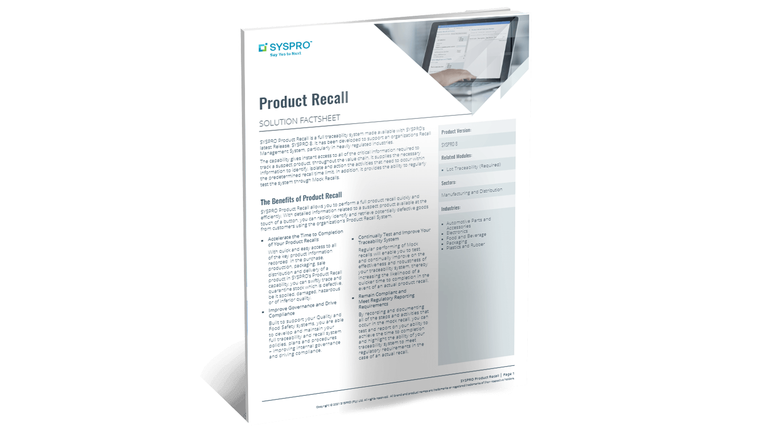 SYSPRO-ERP-software-system-product-recall-factsheet